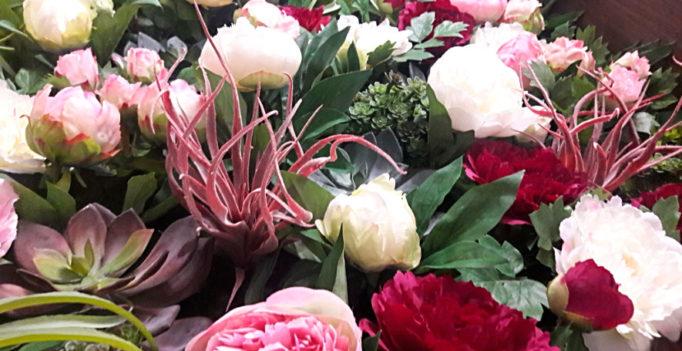 Фитопанно из искусственных цветов производства Бельгия